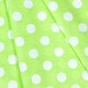 Ткань на отрез бязь плательная 150 см 1422/22 салатовый фон белый горох фото