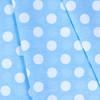 Ткань на отрез бязь плательная 150 см 1422/23 голубой фон белый горох фото