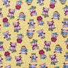 Ткань на отрез вафельное полотно набивное 150 см 1057/2 Веселая прогулка цвет жёлтый фото