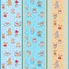 Ткань на отрез вафельное полотно набивное 150 см 1089/2 Звездная семья цвет бежевый фото