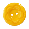 Пуговица детская на два прокола кругл Цветок 15 мм цвет желтый упаковка 50 шт фото