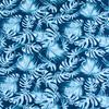 Ткань на отрез интерлок пенье Монстера мятная R-R6058-V1 фото