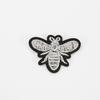 Аппликация Пчелка серебро термо 3,5*2,5см фото