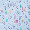Ткань на отрез фланель грунт 150 см 21237/2 Гномики цвет голубой фото