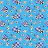 Ткань на отрез вафельное полотно 45 см 144 гр/м2 0698/3 цвет голубой фото