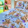 Бязь 120 гр/м2 150 см 0756/1 Любимые игрушки голубой фото