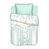 Постельное белье в детскую кроватку с простыней на резинке Сонные мишки на полянке сатин фото