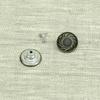 Пуговица джинс ПД092 темное серебро 17мм уп 50 шт фото