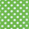Ткань на отрез бязь плательная 150 см 1422/7 зеленый фон белый горох фото