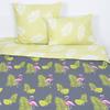 Постельное белье из поплина 28283/1 Розовый фламинго 2-х сп с евро простыней фото
