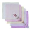 Платки носовые женские с вышивкой 28/28 см расцветки в ассортименте 10 шт фото