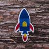 Термоаппликация ТАВ В85 ракета синяя 4*7см фото