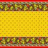 Вафельное полотно набивное 150 см 195/3 Хохлома цвет жёлтый фото