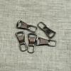 Подвес к бегунку №3 металл черный никель (юбка) фото