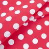 Ткань на отрез бязь плательная 150 см 1422/1 красный фон белый горох фото