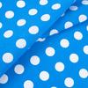 Ткань на отрез бязь плательная 150 см 1422/2 голубой фон белый горох фото