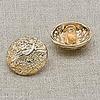 Пуговица металл ПМ7 18мм золото уп 12 шт фото