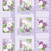 Вафельное полотно набивное 150 см 3018-3 Флёр цвет сиреневый фото