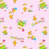 Ткань на отрез фланель 90 см 21030/3 Жирафики цвет розовый фото