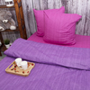 Постельное белье из перкаля Эко Фиолетовый закат 2-х сп нав. 70/70 фото