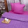 Постельное белье из перкаля Эко Фиолетовый закат 2-х сп с евро простыней фото