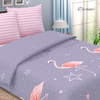 Простыня поплин 736-1 Фламинго 2-х сп фото