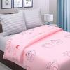 Простыня поплин 771-1 Ля-Мурр розовый основа 1.5 сп фото