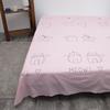 Простыня поплин 771-1 Ля-Мурр розовый основа Евро фото