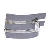 Молния металл №10СТ никель разъемная 65см D225 темно серый фото