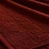 Полотенце махровое Туркменистан 100/180 см цвет винный BORDEAUX фото
