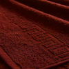 Полотенце махровое Туркменистан 70/135 см цвет винный BORDEAUX фото