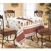 Столовый набор 4014/1 Петушки скатерть полулен 150/150 + 6 салфеток фото