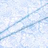 Ткань на отрез поплин 220 см 115 г/м2 391/3 Дамаск цвет голубой фото