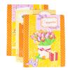 Набор вафельных полотенец 3 шт 45/60 см 449/3 Тюльпаны цвет оранжевый фото