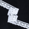 Кружево лен D1011 Белый 2,5см уп 10 м фото