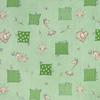 Ткань на отрез бязь 120 гр/м2 детская 150 см 366/2 Жирафики цвет зеленый фото