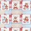 Ткань на отрез вафельное полотно набивное 150 см 207251В Помощники Санты цвет красный фото