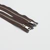 Молния металл №5СТ никель два замка 100см D570 коричневый фото