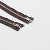 Молния металл №5СТ никель два замка 75см D570 коричневый фото