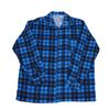 Рубашка мужская фланель клетка 60-62 цвет синий модель 1 фото