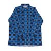 Рубашка мужская фланель клетка 60-62 цвет синий модель 2 фото