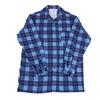 Рубашка мужская фланель клетка 44-46 цвет синий модель 3 фото