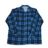 Рубашка мужская фланель клетка 44-46 цвет синий модель 4 фото