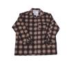 Рубашка мужская фланель клетка 48-50 цвет коричневый модель 1 фото