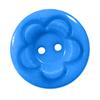 Пуговица детская на два прокола кругл Цветок 15 мм цвет голубой упаковка 24 шт фото