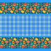 Вафельное полотно набивное 150 см 431/1 Кухня цвет синий фото