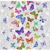 Ткань на отрез вафельное полотно 50 см 170 гр/м2 5634/1 Бабочки фото