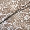 Ткань на отрез поплин 220 см 115 г/м2 391А/18 Дамаск цвет кофе фото