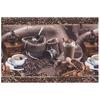 Маломеры полотно вафельное 50 см набивное 5562 вид 1 Арабика 2,5 м фото