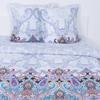 Постельное белье из поплина 559/1 Волшебная ночь голубая 2-х сп с евро простыней фото